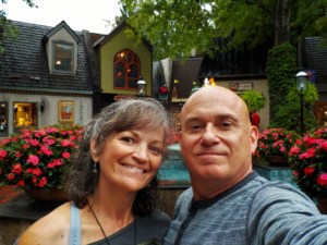 The authors pose for a selfie in downtown Gatlinburg.