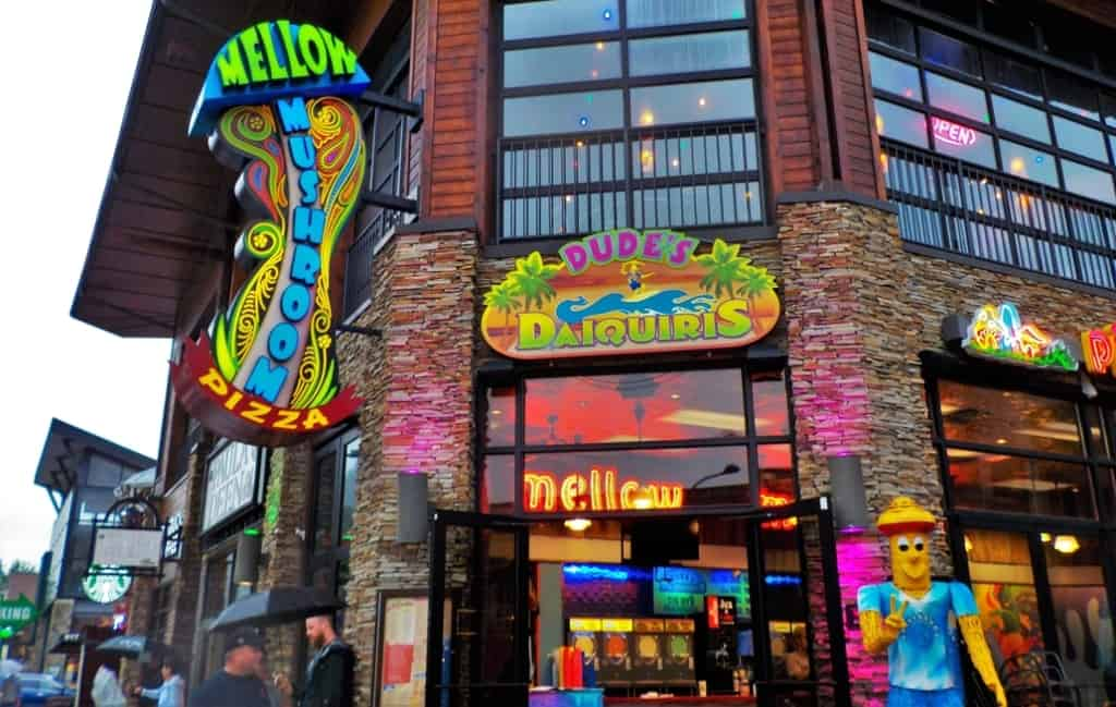 Mellow Mushroom is a fun space to grab a bite to eat.