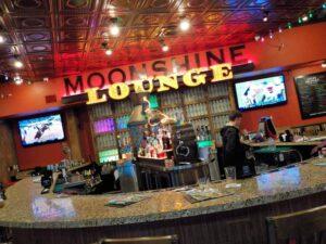 The Moonshine Lounge serves up adult beverages inside Mellow Mushroom.