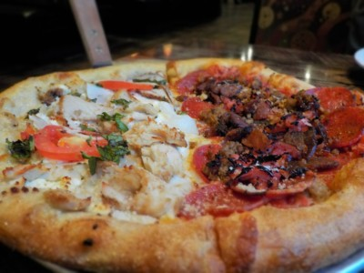 We found a peace of pizza at Mellow Mushroom in Gatlinburg.