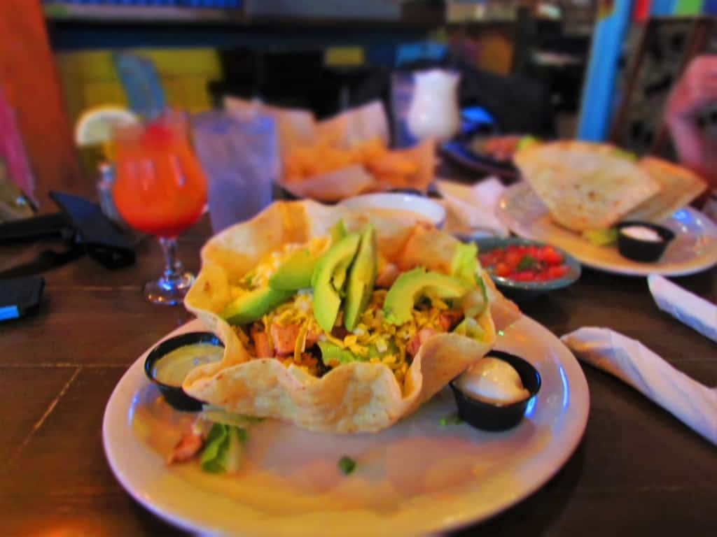 The Chicken and Avocado Salad is served fresh at No Way Jose's Cantina in Gatlinburg, Tennessee.
