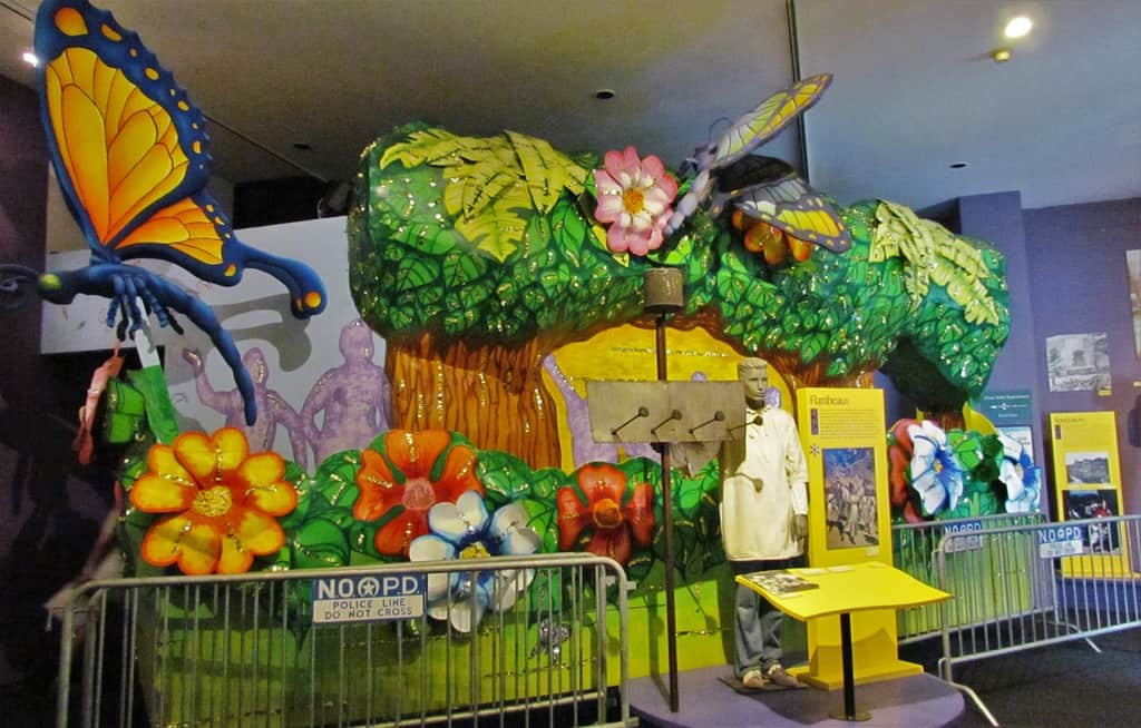The Mardi Gras exhibit at Presbytere Museum is a fun filled look at the history of this fun event.