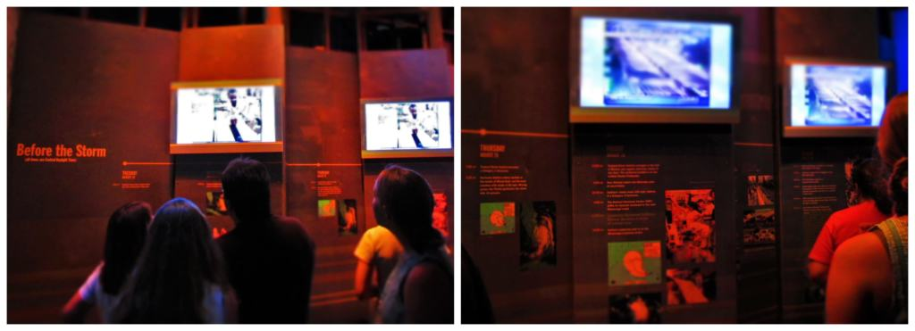 The Hurricane Katrina exhibit, at The Presbytere Museum, begins with explaining how the storm formed.