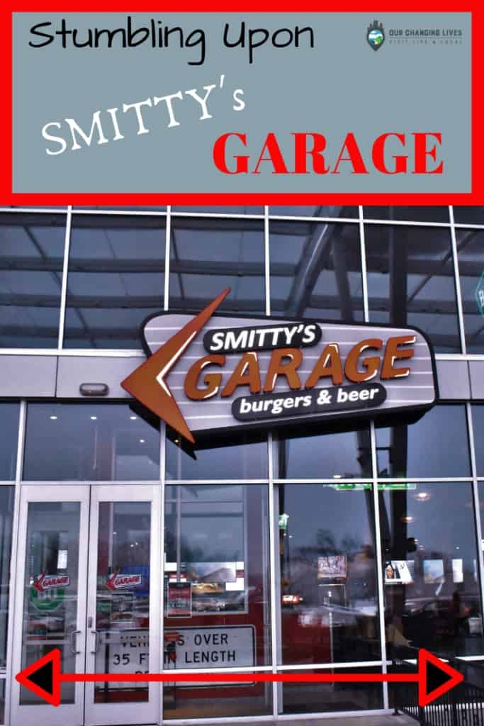 Stumbling upon Smitty's garage-dining-restaurant-Kansas City-burgers-tacos-margaritas