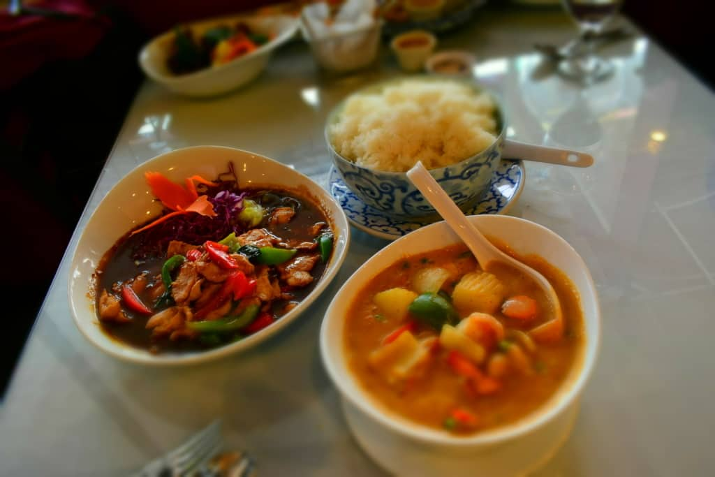 When the main courses arrived, we were ready to taste more Thai cuisine.