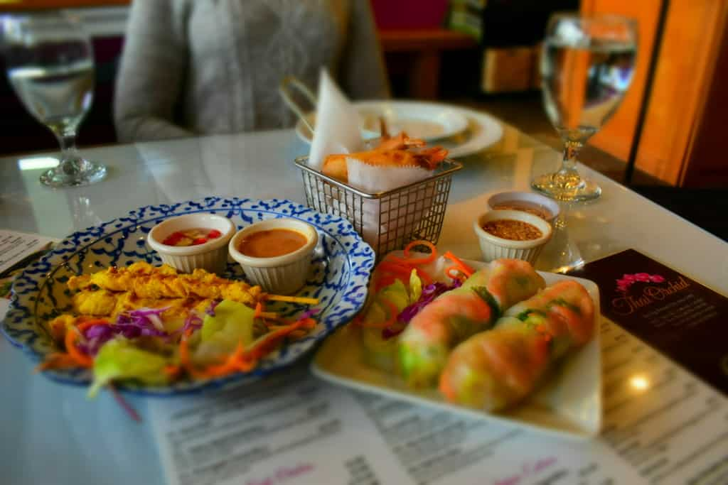 Starting the meal with a trio of appetizers let us learn how Thai Orchid brings the flavor.