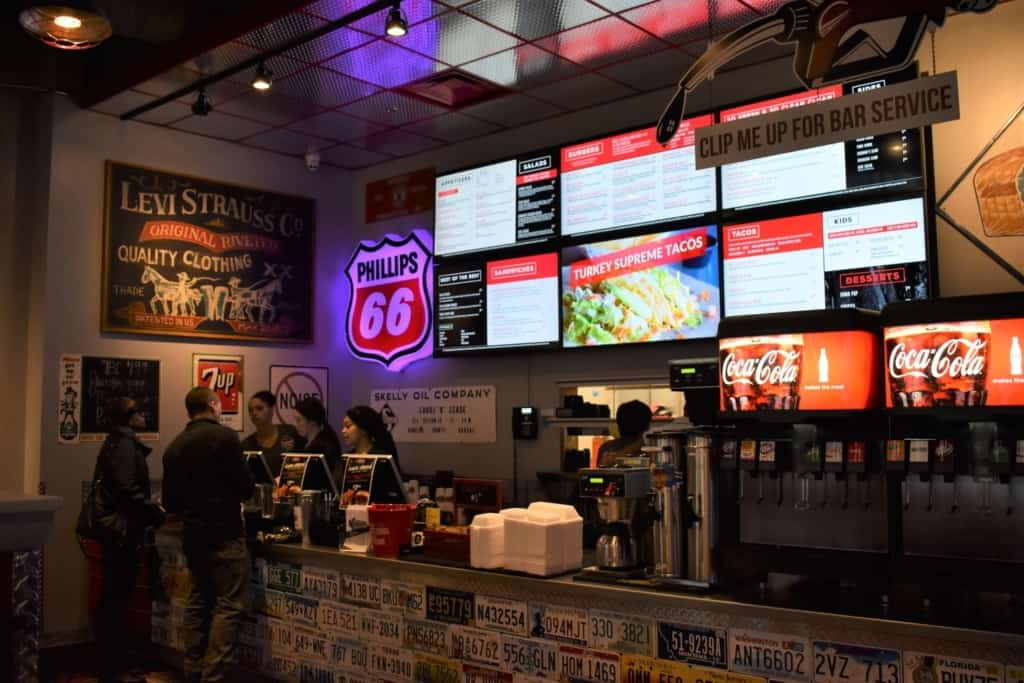 The menu board at Smitty's Garage is filled with options to get your taste buds rolling.