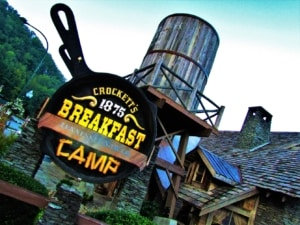 Crockett's 1875 Breakfast Camp restaurant invites guests to cozy up to an old fashioned breakfast experience.
