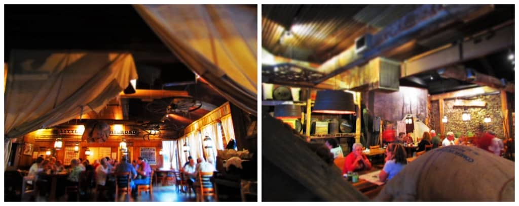 The interior has plenty of room for larger groups to dine on frontier foods at Crockett's Breakfast Camp.