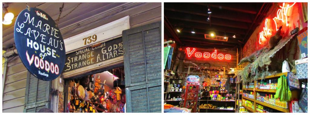 Voodoo shops can be found sporadically located around the French Quarter.