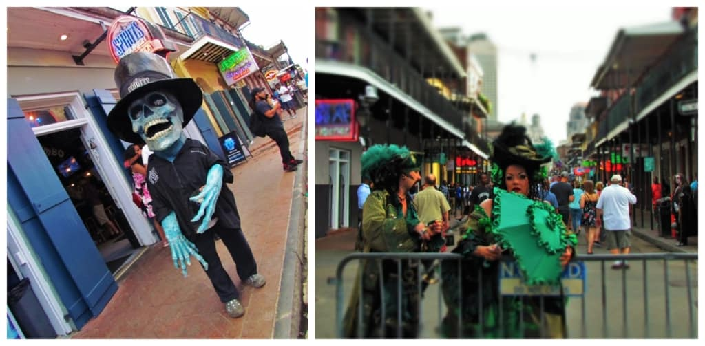 A visit to the French Quarter offers views of some interesting characters.