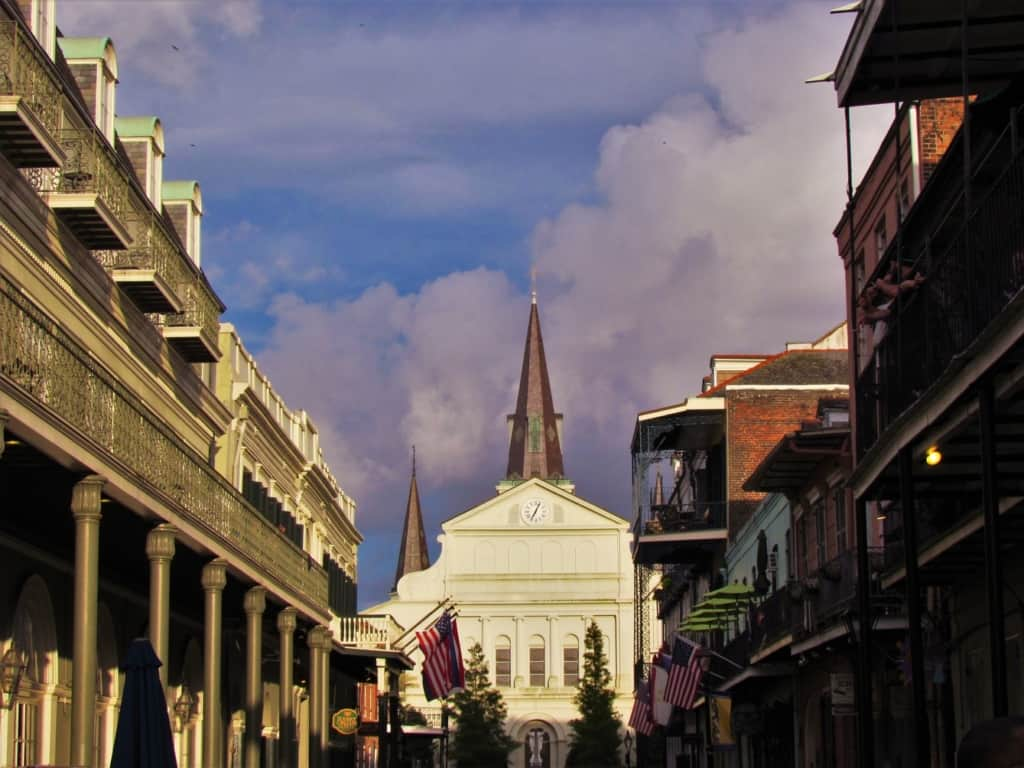 The St. Louis Cathedral is an impressive structure in Jackson Square.