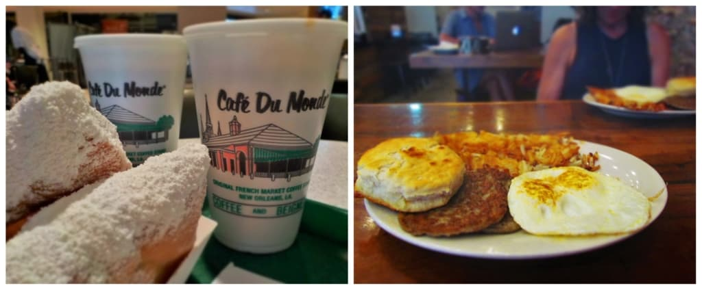 Breakfast in New Orleans can range from sugary beignets to a hearty plate of protein.