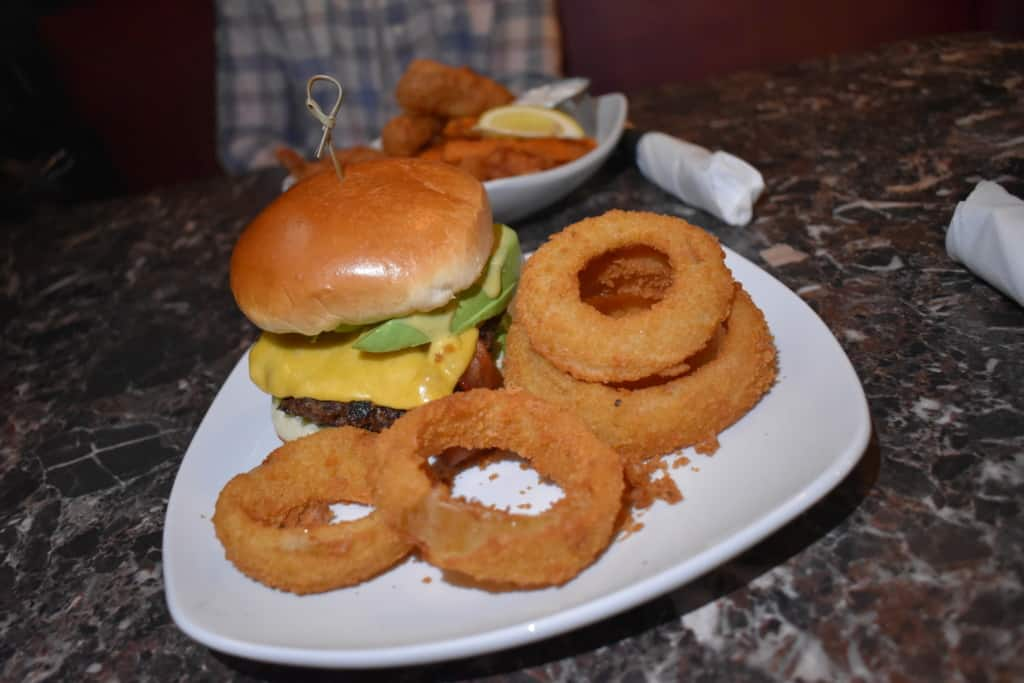 Historic Parkville Dining can be found inside the Riverpark Pub, which is known for its handheld foods like half pound burgers.