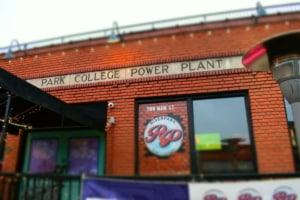 Riverpark Pub is located inside of the old Park College Power Plant.