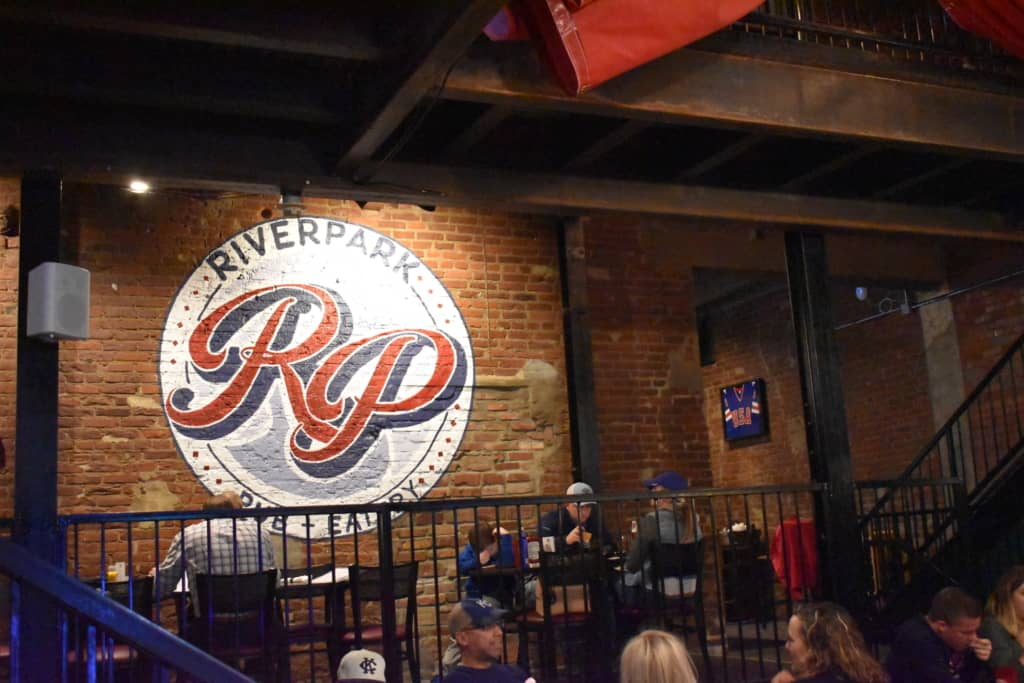 Much of the original atmosphere exists at Riverpark Pub and Eatery, where visitors can enjoy historic Parkville dining.