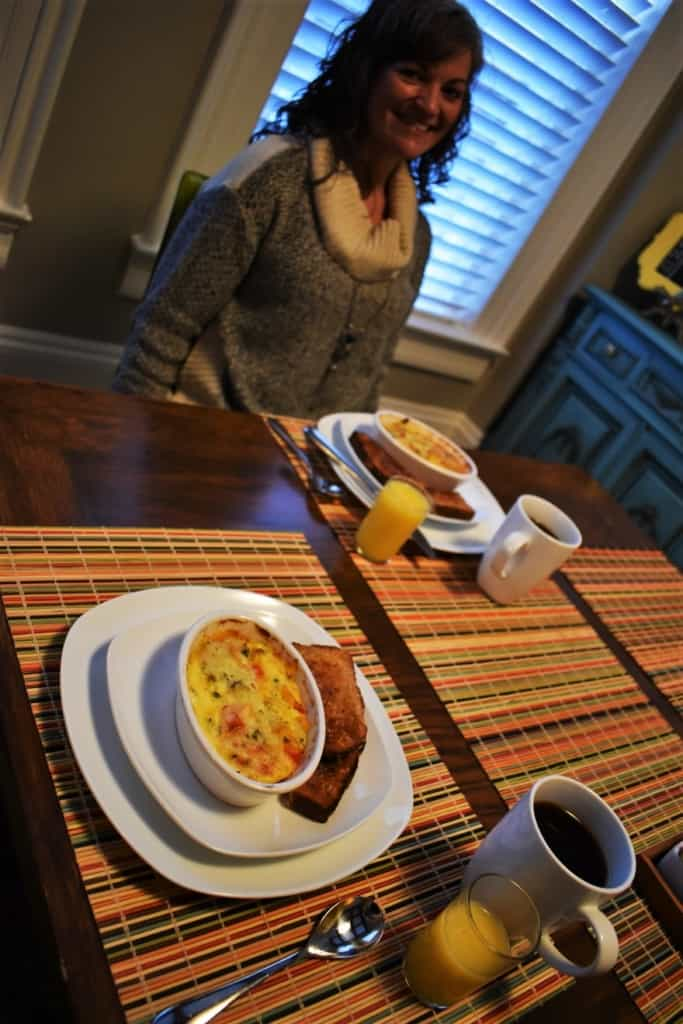 Egg Frittatas offered plenty of protein to fuel our busy schedule of exploring that we had on tap.