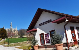 The old railroad depot has been repurposed as an art gallery that offers fine art lessons.