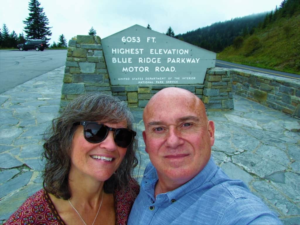 At over 6,000 feet, a stop at the highest point of the Blue Ridge Parkway was an elevated experience.