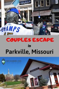 Couples escape in Parkville, Missouri-dining-Civil War-history-shopping