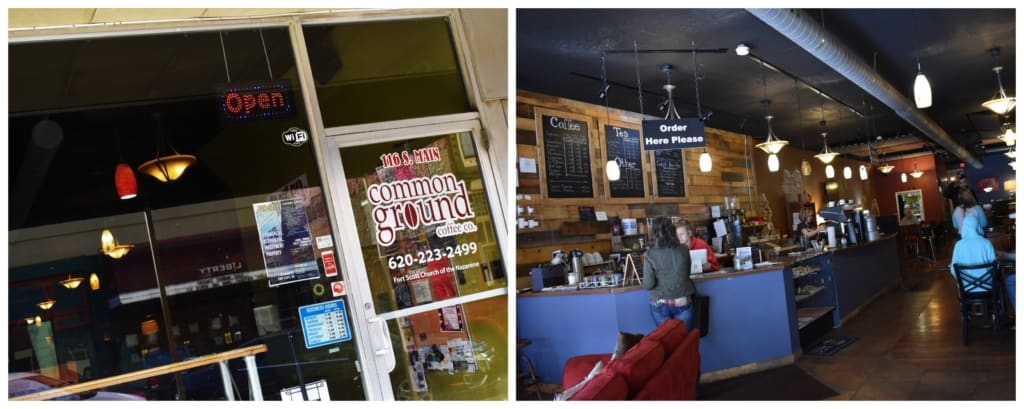 We found this coffee shop in downtown Fort Scott.