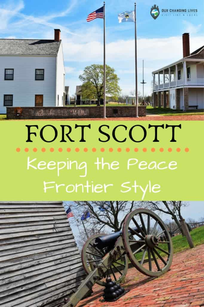 Fort Scott-Keeping the Peace-frontier fort-cannons-dragoons-American Indian-Civil War