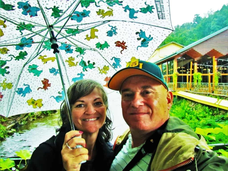 Rainy days and fun days are awaiting the authors on the Great Smoky Mountain Road Trip.
