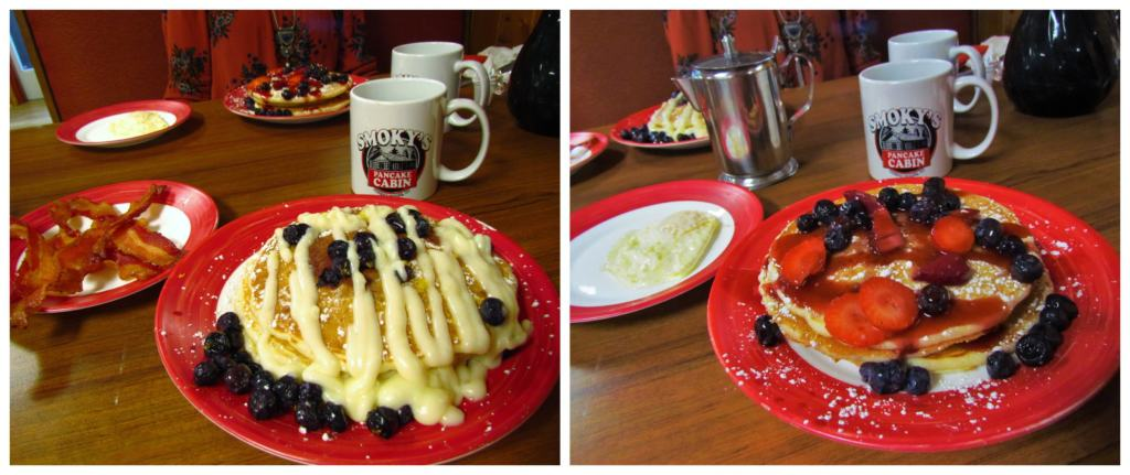 One last pancake stop allowed a sugary meal to get the authors moving on the road to home.
