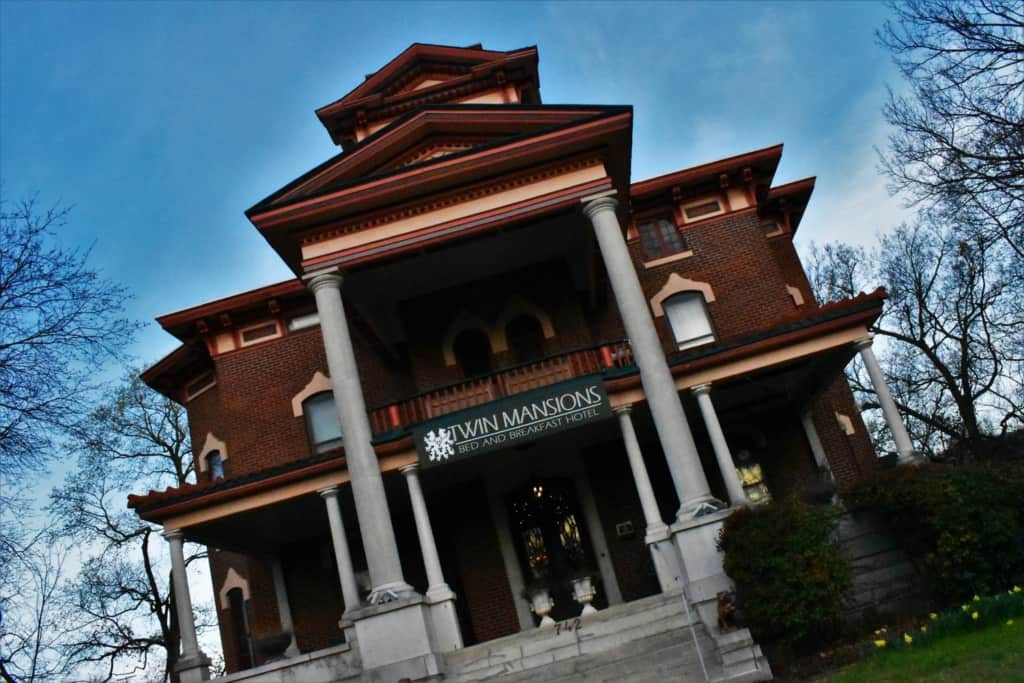 The north mansion is home to the lodging portion of the Lyons Twin Mansions bed and breakfast.