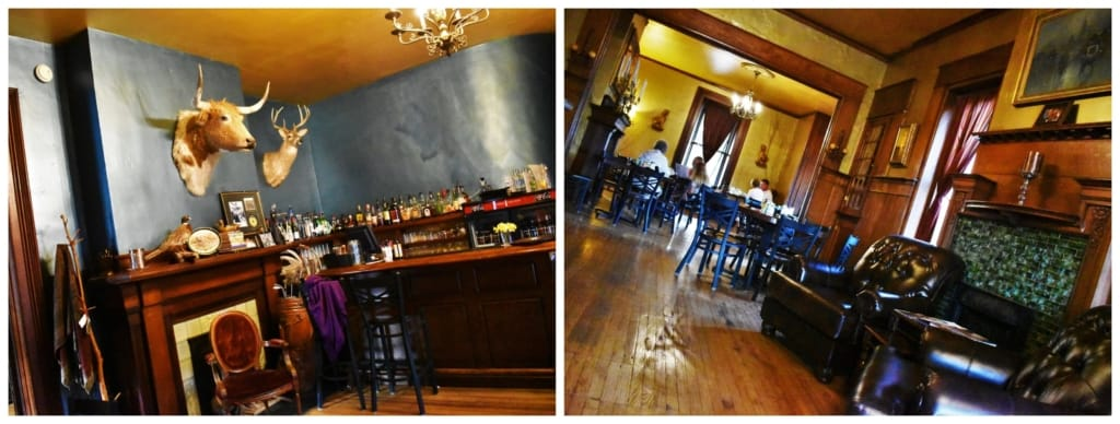 It was hard not to take a historic double take when we saw the decor at Lyons Twin Mansions.