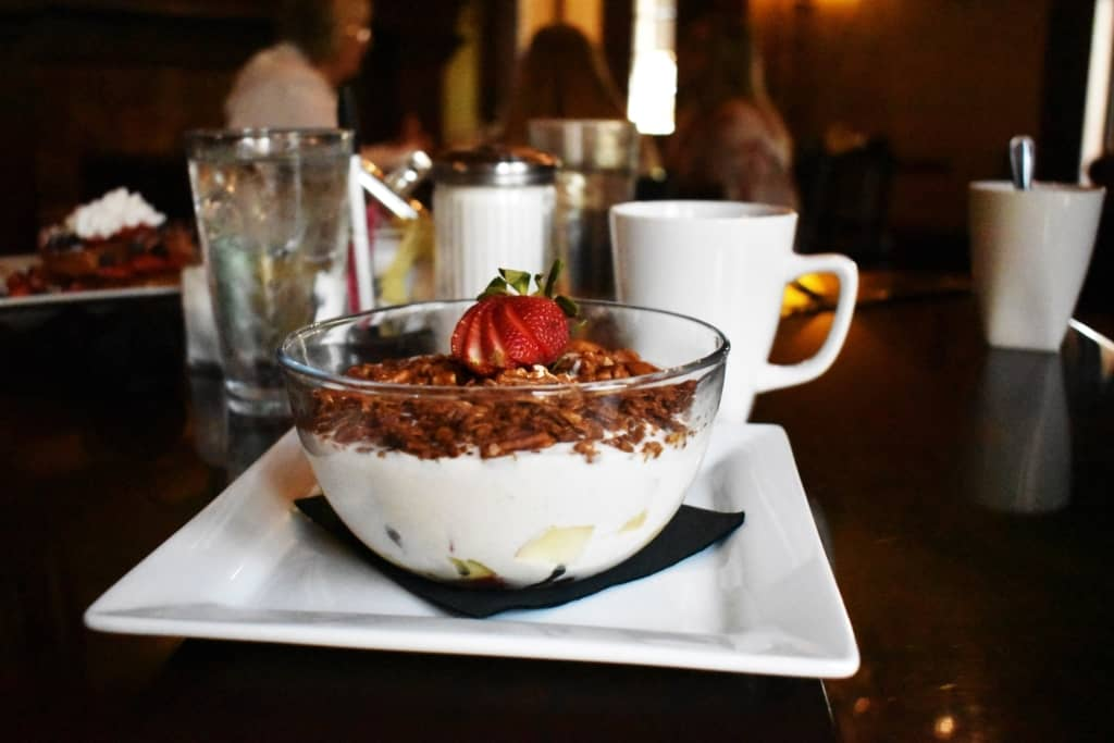 The Lyons Granola and Fruit Parfait is a delicious and healthy start to a day of exploring.