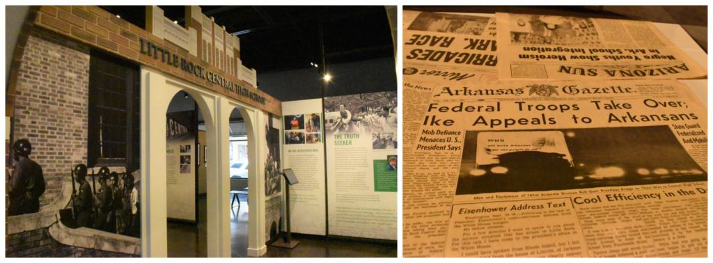 Seeing an exhibit on the Little rock Nine reminded us of our visit to Central High School.