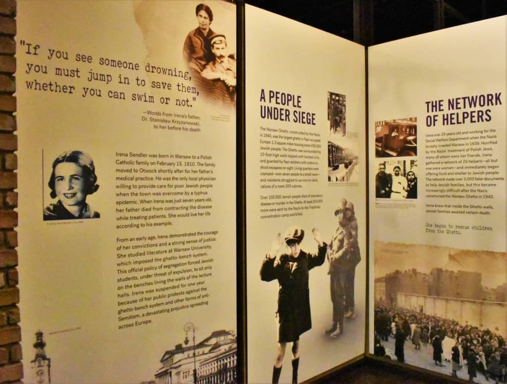 Irens Sendler put her own life on the line to help rescue over 2500 children from the Jewish Ghetto in Warsaw, Poland.