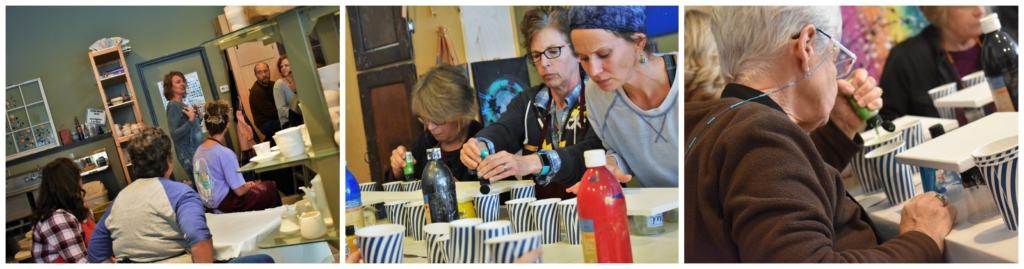 We enjoyed watching students get active in downtown Parkville, as they participated in a poured paint class.