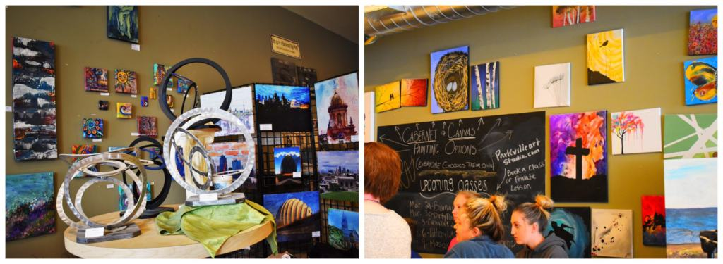Customers at the Parkville Artisan's Gallery can purchase locally made artwork or take a class to create their own piece.