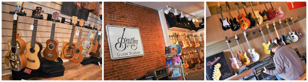 Bentley Guitar Studios has been a mainstay of the Parkville shops for many years.
