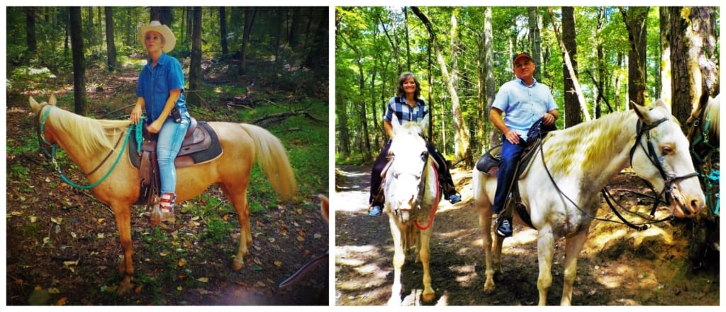 A horseback ride during the Smoky Mountain Road Trip was a nice relaxing excursion.