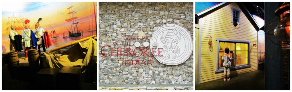 Rainy days and fun days included a visit to the Museum of the Cherokee Indian.