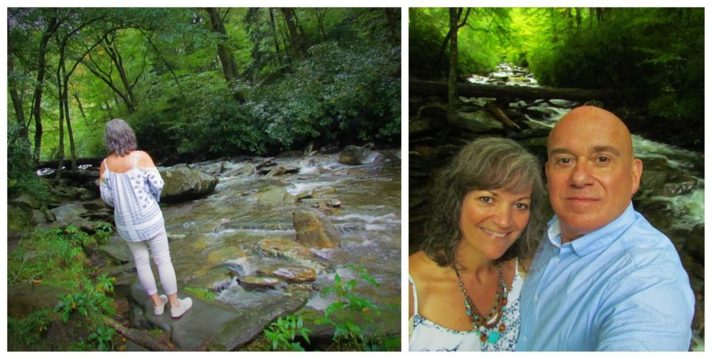The authors stop to reflect on the running waters that are found throughout the great Smoky Mountain National Park.