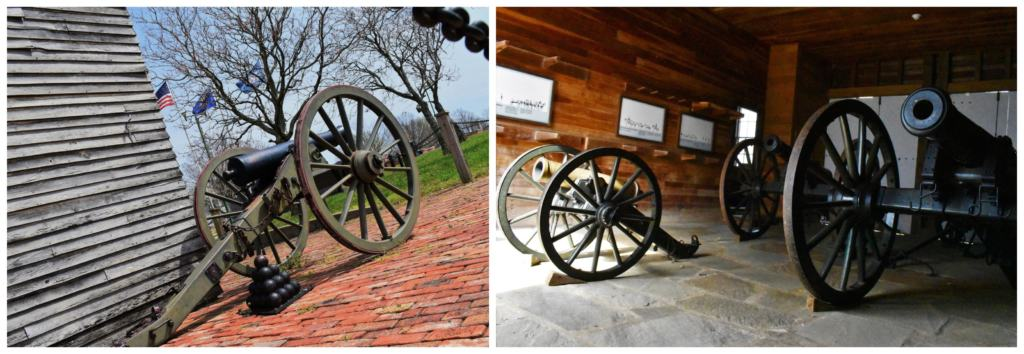 A variety of armaments and cannons were used for keeping the peace on the edge of the frontier.