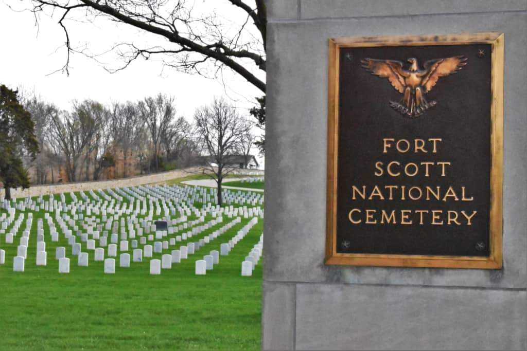 The Fort Scott National Cemetery is one of the original twelve signed into existence by Abraham Lincoln.