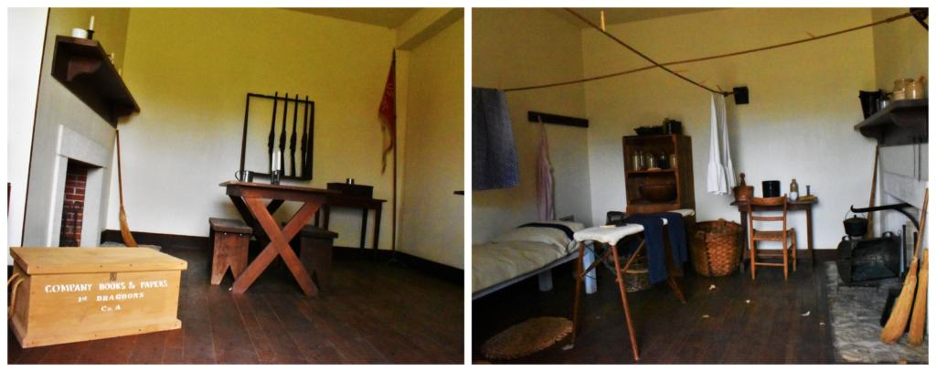 Seeing the soldiers living quarters reminded us of the hardships that they faced while keeping the peace on the frontier.