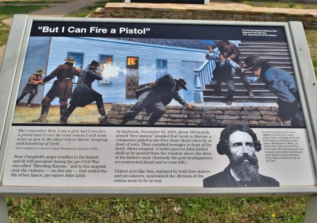 The Civil War outbreak required that Fort Scott be put back into use for keeping the peace in the region.