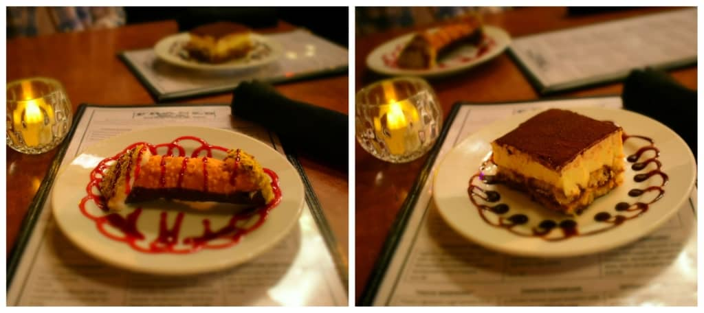 Dessert options are serious business at Frank's Italian Restaurant.