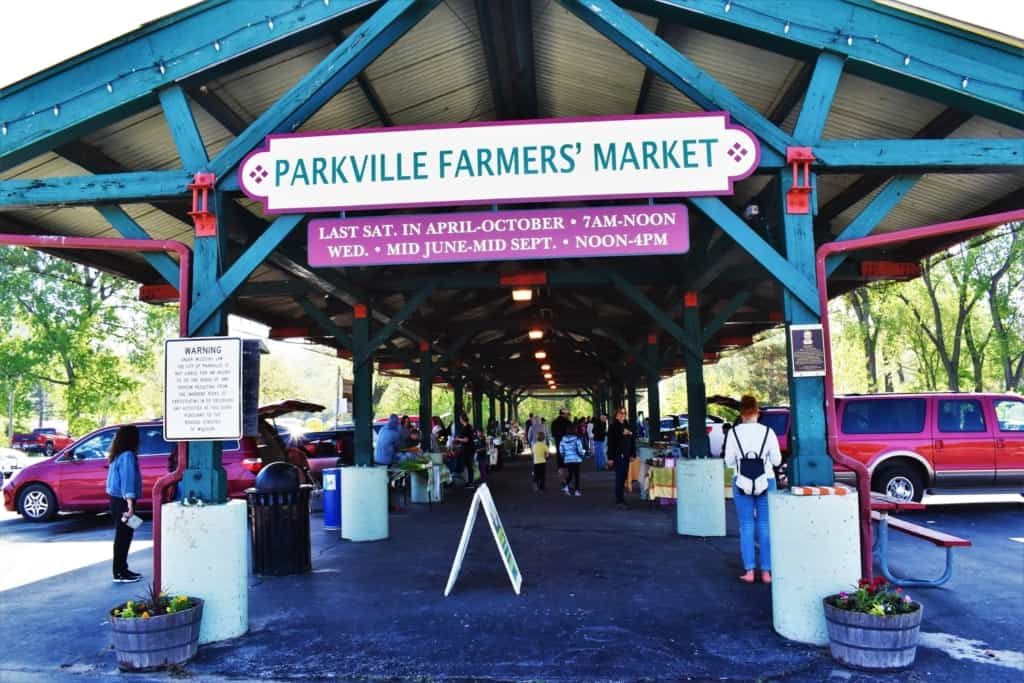 It's easy to get active in Parkville with a visit to the local farmers market.