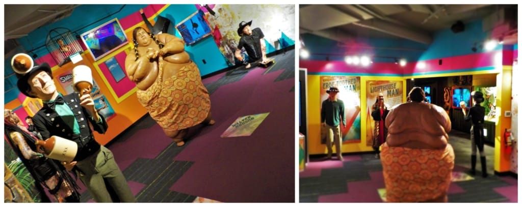 A variety of life-size statues showcase some of the unusual people who have been highlighted in the Ripley's books.