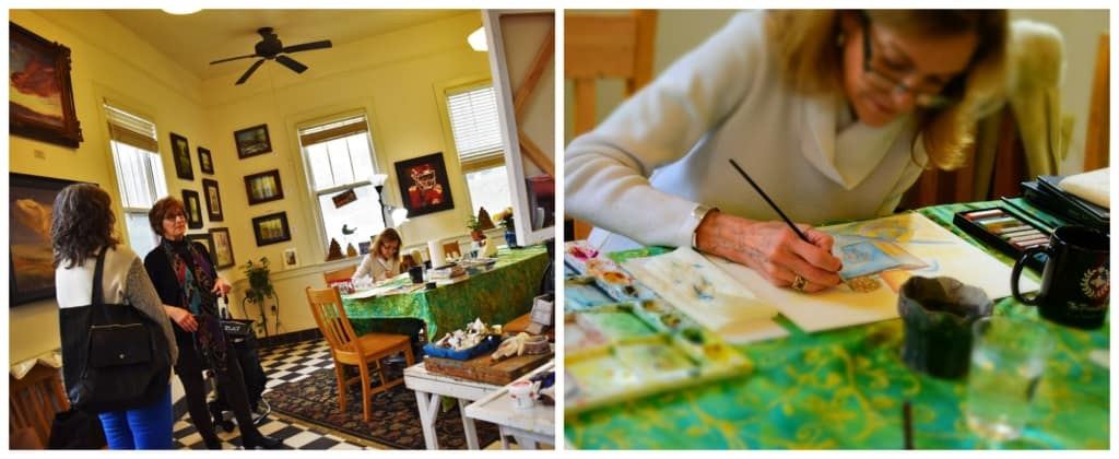 The Cathy Kline Gallery is a good place to learn how to create fine art pieces from a capable instructor.
