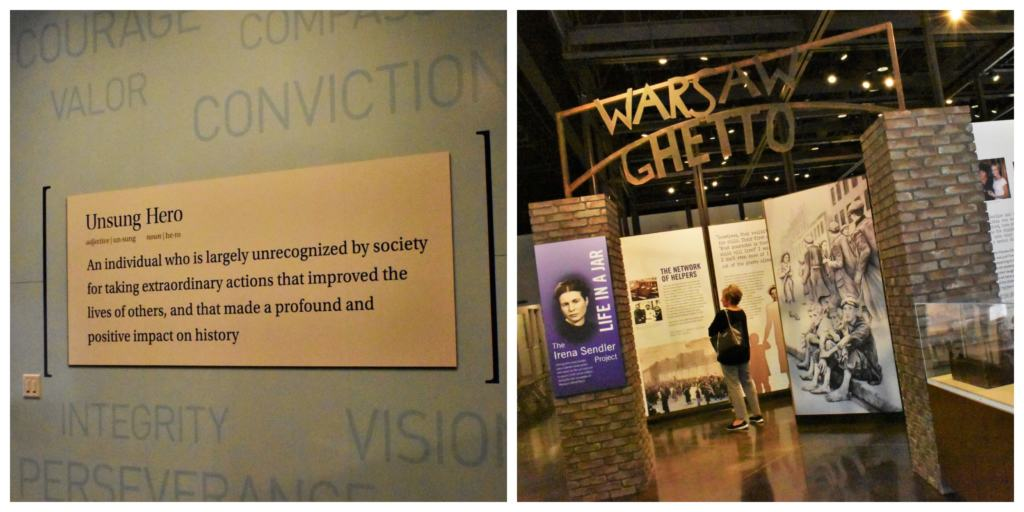 The center for Unsung Heroes shows visitors that all of us have the ability to make a positive impact on others.