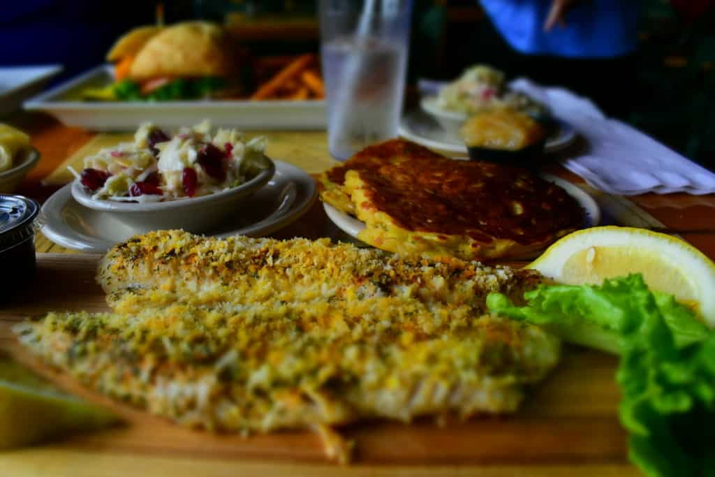 A plank of walleye was a delightful way to get my first taste of Kenosha.