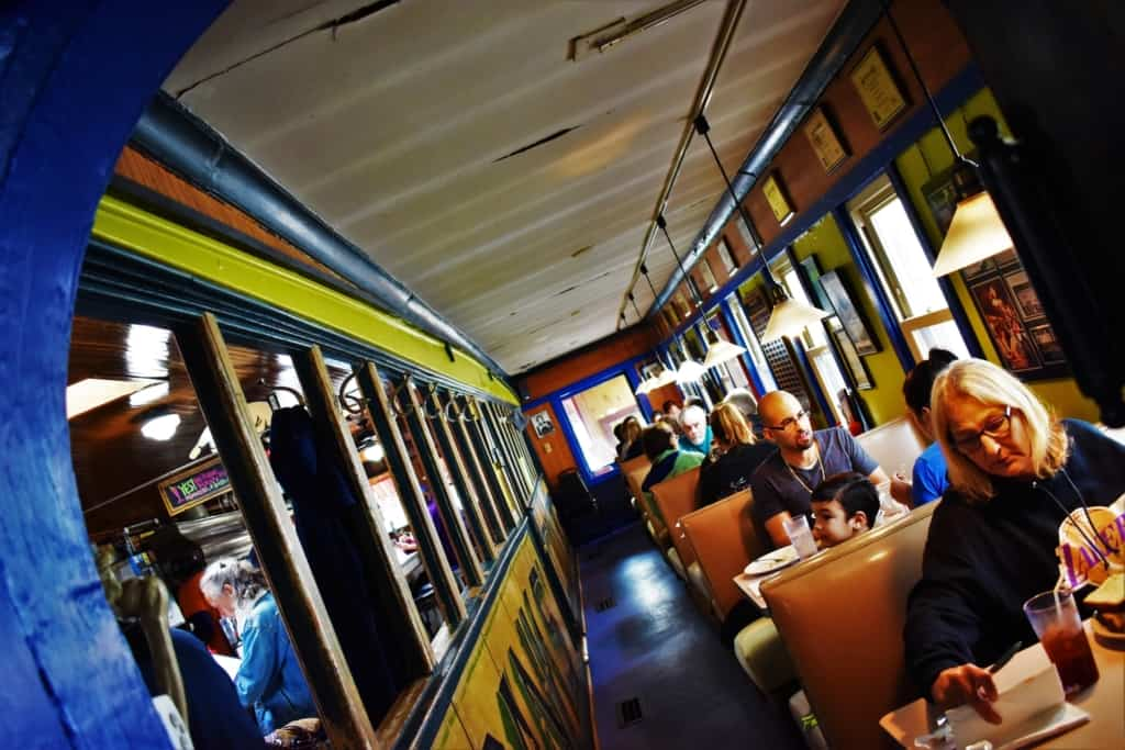 The addition of extra seating helps keep the wait reasonable for diners at Franks' Diner.